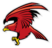 Eagle maskot vektor illustrationer