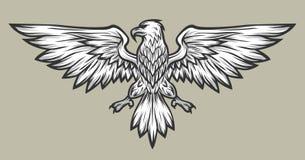 Eagle maskotki rozszerzania się skrzydła Symbol, maskotka Zdjęcie Royalty Free