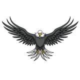 Eagle-Maskottchen verbreitete die Flügel vektor abbildung