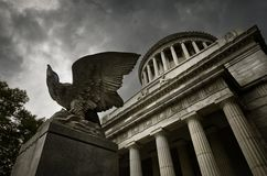 The Eagle at the Mausoleum. Mausoleum of General Grant in New York Royalty Free Stock Photo