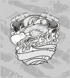 Eagle med maskinen dra för hand, skjortadesigner, cyklist, skivajockey, gentleman, barberare och många andra Isolerat och lätt at royaltyfri illustrationer