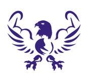 Eagle med muskelsymbolen Arkivbilder