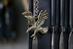 Eagle medallion on chain Stock Photos