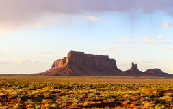 Eagle Mesa in Monument Valley. The rock formation Eagle Mesa in Monument Valley in evening light Royalty Free Stock Photos