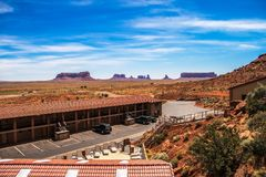 Monument Valley seen from the Goulding`s Lodge stock photo
