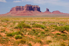 Eagle Mesa and the Sitting Hen, Monument Valley stock images