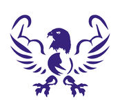 Eagle met spierenpictogram Stock Afbeeldingen
