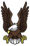 Eagle met uitgespreide vleugels stock illustratie