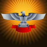 Eagle Metal Silver Steel Lizenzfreies Stockbild