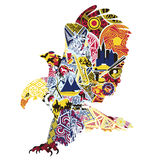 Eagle-miniaturen die Amerika symboliseren Royalty-vrije Stock Afbeeldingen