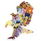 Eagle miniatury symbolizuje Ameryka Obrazy Royalty Free