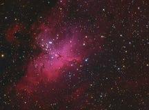 Eagle Nebula M16 i Serpens Arkivfoton