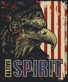 Eagle nel cofano di guerra Illustrazione di vettore Immagine Stock Libera da Diritti
