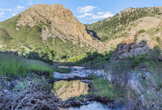 Eagle Nest Rock iand Poudre RIver Stock Photo
