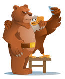 Eagle och björn som gör selfie Arkivbilder