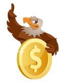 Eagle och dollar Arkivfoto