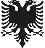 Eagle od Albania flaga ilustracja wektor
