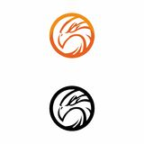 Eagle orange logo royalty free stock images