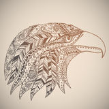 Eagle in ornamento tribale orientale Fotografie Stock