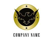 Eagle osłony logotyp ilustracja wektor