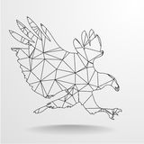 Eagle Outline polygonal Photos libres de droits