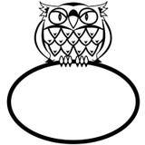 Eagle owl. Frame - a bird an owl in a vector Stock Photos