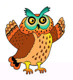 Eagle owl symbol predator plumage Stock Images