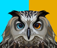 Eagle owl in vector Royalty Free Stock Photography