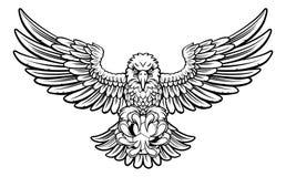 Eagle piłki nożnej futbolu maskotka Fotografia Royalty Free