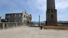 Eagle Plaza of Alcatraz stock footage
