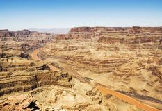 Eagle Point, Grand Canyon -Westkante - sonniger Tag, blauer Himmel - Arizona, AZ Stockfotografie