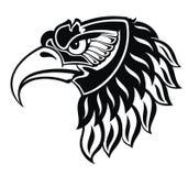 Eagle portait tattoo. Black and white agressive eagle tattoo design Royalty Free Stock Photo