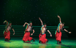 The eagle pride-The Mongolia dance. May 15, 2016, from Jiangxi province around the dancers gathered to exchange skills. At the Nanchang Repertory Theater Stock Photo