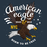 Eagle print 001 royalty free illustration
