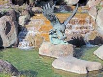 Eagle With-Prooi-Metaalart. Stock Fotografie