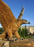 Eagle ptak symbol Orel miasto, Rosja fotografia royalty free