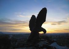 Eagle Pyatigorsk emblem Nordliga Kaukasus gränsmärken fotografering för bildbyråer