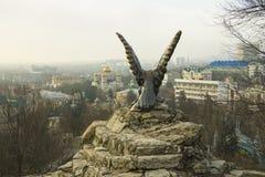 Eagle Pyatigorsk emblem Nordliga Kaukasus gränsmärken royaltyfria bilder