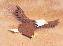 Eagle recycle paper craft Royalty Free Stock Image