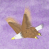 Eagle recycle paper craft Stock Images