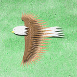 Eagle recycle paper craft Stock Image