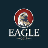 Eagle in red circle vector illustration Stock Photo