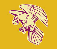 Eagle Retro Color calvo illustrazione di stock