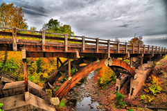 Eagle River Bridge. Taken along M-26 towards Copper Harbor, MI Royalty Free Stock Images