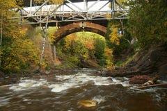 Eagle River Fall-kleur royalty-vrije stock fotografie