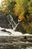 Eagle River Falls During Fall royalty free stock photo