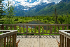 Eagle River Nature Center en Alaska Foto de archivo libre de regalías