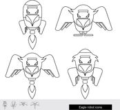 Eagle robot icon. Eagle-rocket Royalty Free Stock Image