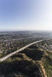 Eagle Rock California Ventura Freeway Aerial Royalty Free Stock Photos