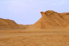 Eagle rock in Sahara desert Royalty Free Stock Photo